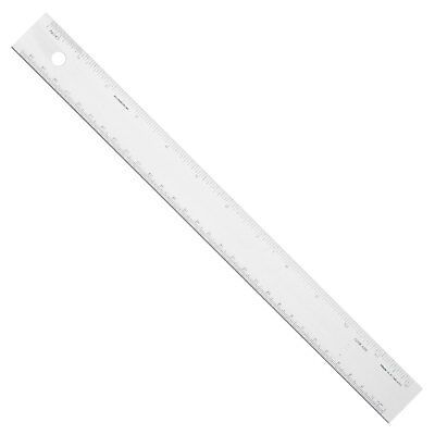 "Alumicolor 12"" 30cm Aluminum Straight Edge Conversion Ruler Inch Metric Scales"