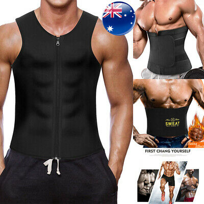 Men Body Shaper Neoprene Vest Sauna Sweat Slimming Corset Tank Top Waist trainer