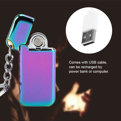 Dual Arc Electric USB Cigarette Lighter Rechargeable Plasma Windproof Flameless
