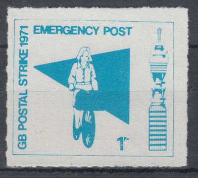 1971 Emergency Post GB Postal Strike 1/- blue LMM; 1s; NW London Postal Services