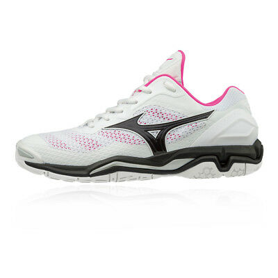 Mizuno Womens Wave Stealth V NB Court Shoes White Sports Badminton Basketball