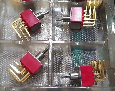 4 Pcs Of C&K 7308 Toggle Switch  (U3.3B3)