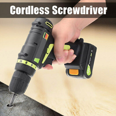 12V Cordless Electric Drill Screwdriver 18Gear Torque & Light For Punching Screw