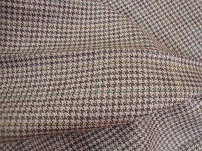 "2.44 yds WOOL HOUNDSTOOTH PLAID CHECK 9.5 oz FABRIC SUITING 60"" x 88"" gray BTP"