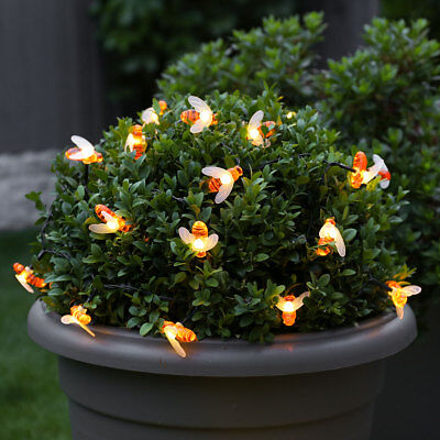 2/5m Battery Power Outdoor Bumble Bee LED Fairy Lights | Garden Tree Novelty