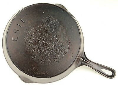 Vintage Pre Griswold Erie No 8 Cast Iron Skillet in Restored Condition