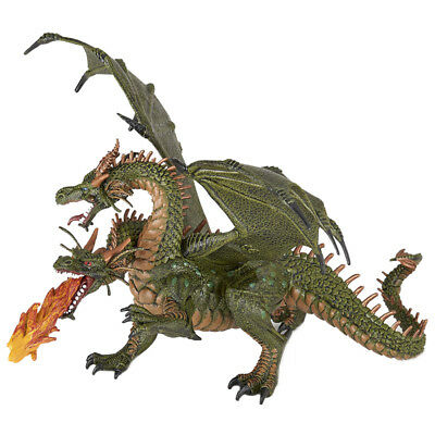 Papo Fantasy World Two Headed Dragon Collectable Figure 36019 NEW