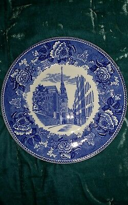 Wedgewood Plate Shreve Crump & Low Transferware Boston Old North Christ Church