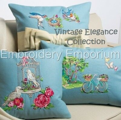 Vintage Elegance Collection - Machine Embroidery Designs On Cd