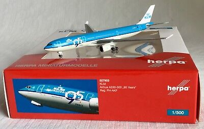 "HERPA 1:500 KLM Airbus A330-300 ""95 Years"" Reg. PH-AKF #527903"
