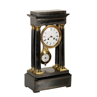 Table Clock Gilded Bronze Made in France First Half of 1800