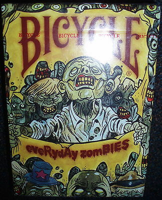 Poker Kartenspiel Playing Cards USA Bicycle ZOMBIES by Rob Sacchetto 54-Blatt !!