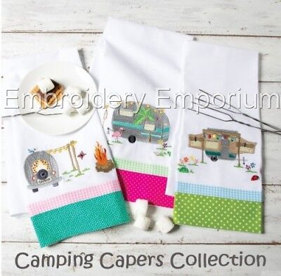 Camping Capers Collection - Machine Embroidery Designs On Cd