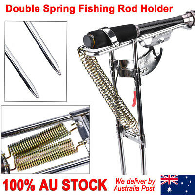 Fishing Rod Stand Holder Automatic Stainless Steel Adjustable Pole Bracket AU
