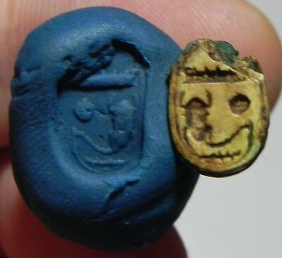 ZURQIEH -as6756- ANCIENT EGYPT, NEW KINGDOM STONE Scarab. 1400 B.C