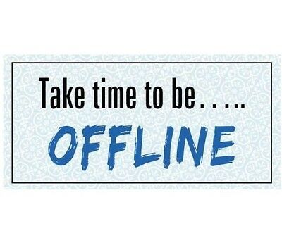 Magnet im Antik Look - Take Time to be OFFLINE - Kühlschrankmagnet Dekomagnet