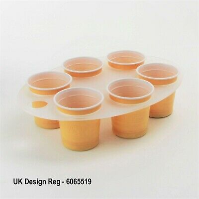 Vending Machine Tray, Cup Holder, Office, 6 Cups, Hot Drinks, Oval, Frosted