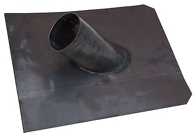 "Soil pipe lead slate for pitched or flat roofs 450mm x 450mm 4"" pipe"