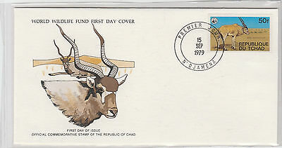 World Wildlife Fund First Day Cover - Chad - The Desert Addax - Issue No 134