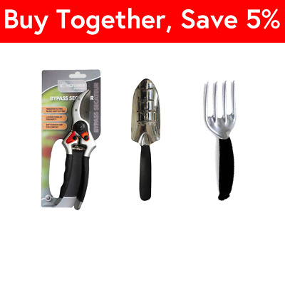 NEW Small Kingfisher MATCHING Black Gardening HAND TOOLS SET 3 Pieces BUNDLE