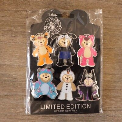Disney 6 pc Pin lot Duffy Costume Olaf Sully Tigger Maleficent Oswald Lotso Set