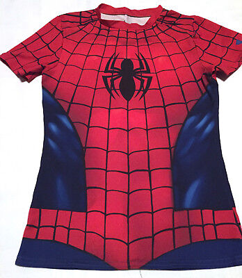 Under Armour SPIDERMAN Polyester T Shirt Fitted Youth YLG / JG / G
