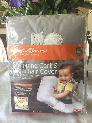 Eddie Bauer Boy Girl Baby Toddler Child Shopping Cart & High Chair Cover-Grey.