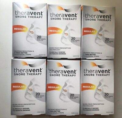 Theravent Snore Therapy Strips (Regular Strength) (6 Pack) NEW and fresh!