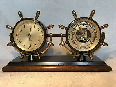 Chelsea Corvette Clock & Barometer Desk Set- Exceptional