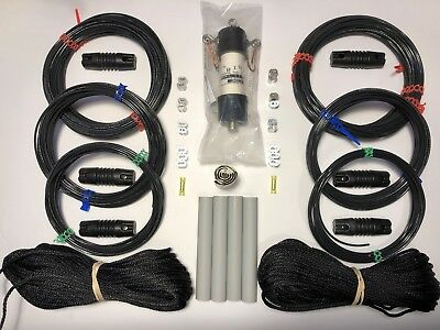 2KW 1:1 Balun 80//40//20 METER FAN MULTI-BAND ANTENNA DIPOLE W 200/' Rope