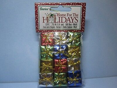"""Dollhouse Miniature Foil Wrapped Christmas Presents Gifts package of 12-3/4"""""""