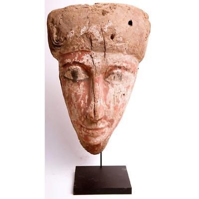 Ancient Egyptian Mummy Wood Mask c.635 BC.