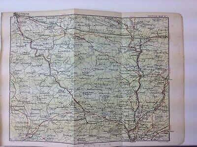 Exeter, Dulverton & Barnstaple, 1904, Antique Map,  Atlas, Devon, Bartholomew