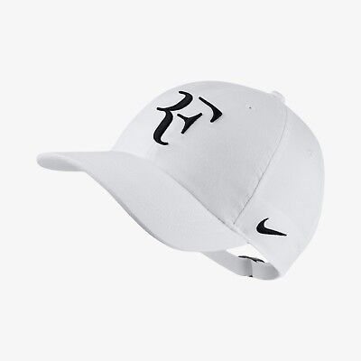 Nike Court RF AeroBill H86 Adjustable Unisex Tennis Cap Hat White AH6985-100 c64799c96a13