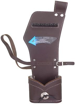 New Traditional Brown Leather Side/hip Quiver Archery Products Aq-142 H R - Hand