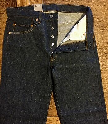VTG 1987 TALL 32 x 38 LEVI'S 501 JEANS Button-Fly Shrink-to-Fit Rare Deadstock