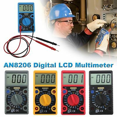 AN8206 Digital LCD Multimeter AC / DC Current Voltage Ohm Tester Diode Tester