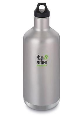 Klean Kanteen Vacuum Insulated Classic 64 oz Bottle BRUSHED STAINLESS