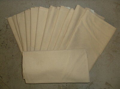 Lot of 120 New Beige Colored Bib Aprons with Front Pocket