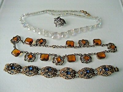 Vintage Lot Of Art Deco Jewelry For Repair Or Parts