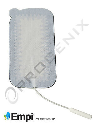 TENS Electrodes Premium NEW 2x4 Rectangle 4 Large Pads for TENS Unit Empi