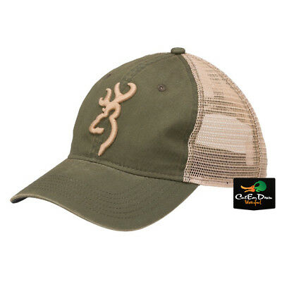 67e75437b4299 New Browning Willow Ball Cap Olive And Tan Adjustable Hat Buckmark Logo