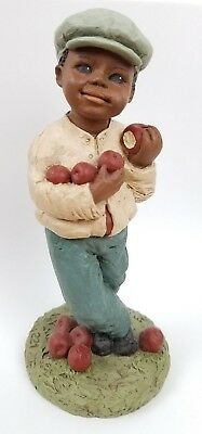1989 All Gods Children Martha Holcombe Figurine ADAM #221 Eating Apple