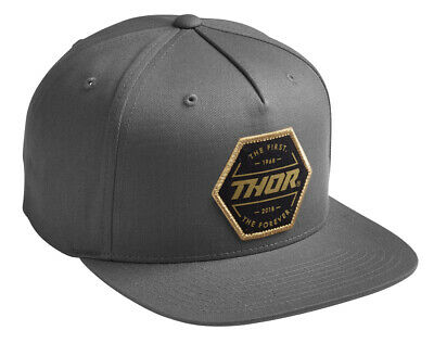 Thor MX Motocross Forever Snapback Hat (Charcoal) One Size