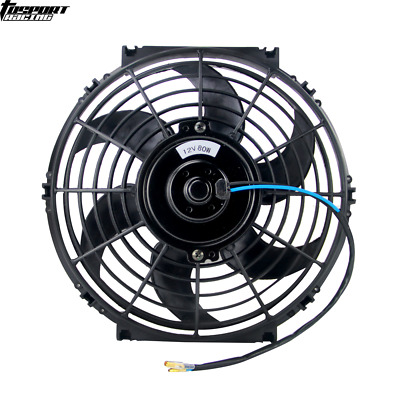 "Universal Slim 10"" 80W Engine Radiator Oil Cooling Electric Pull Push Fan Blades"