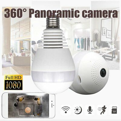 Wifi Hidden IP Camera Light Bulb 360 Night Vision Home Security Cam 1080P USA