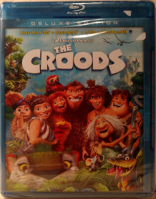 The Croods 3D Blu-Ray/2D Blu-Ray/DVD/Digital HD (Brand New) + Free Gift???