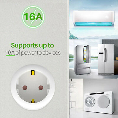 WiFi Smart EU Plug Enchufe Power Socket Control Remoto Para ECHO ALEXA GOOGLE