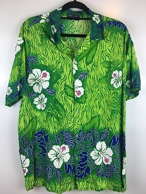 John Doowa Size 48 Mens Floral Shirt Hawaiian Fiji Holiday Button Front Top