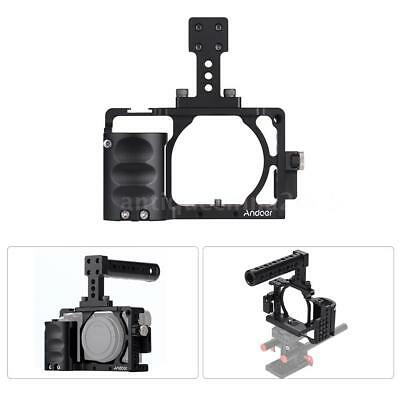 Andoer Video Camera Cage Top Handle Grip Stabilizer For Sony A6000 A6300 A6500